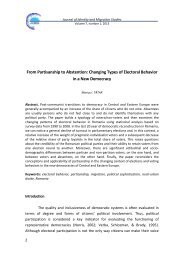 Changing Types of Electoral Behavior in a New Democracy
