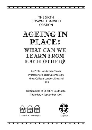 Ageing in Place: What Can We Learn from Each Other?