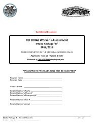 REFERRAL Worker's Assessment - Inter Tribal Health Authority