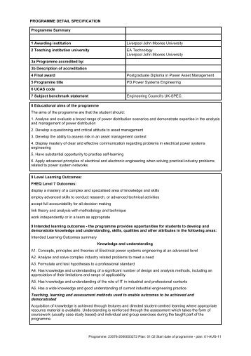Power Asset Management - Liverpool John Moores University