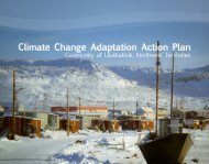 Ulukhaktok Climate Change Adaptation Plan - Arctic North