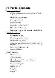 Hochzeits - Checkliste