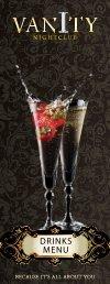 champagne cocktails - Vanity Nightclub Bristol