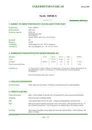 Säkerhetsdatablad (MSDS) (25.5 KB - pdf) - Jula