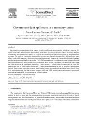 Government debt spillovers in a monetary union - Faculty of Arts