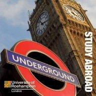 Study Abroad leaflet - University of Roehampton