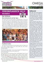 OMEGA Juni 2013 - Reformierte Kirche Brittnau