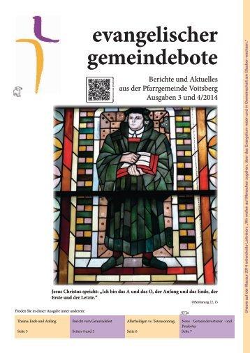 evangelischer gemeindebote 3 und 4/2014