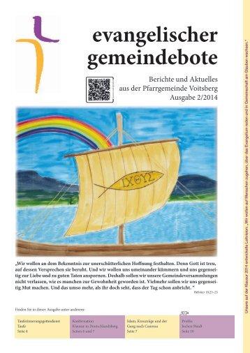 evangelischer gemeindebote 2/2014