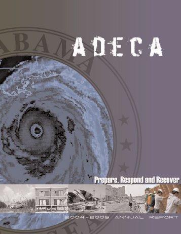 2004-05 Annual Report - ADECA - Alabama Department of ...