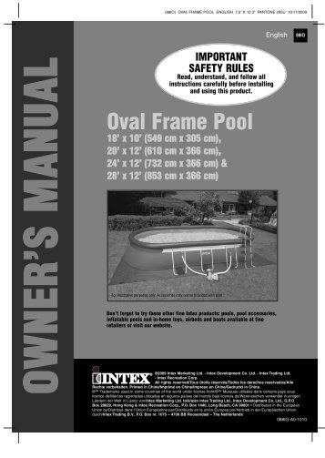 Oval Frame Pool