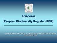 Peoples' Biodiversity Register (PBR) Overview