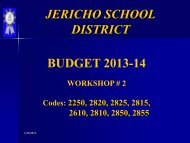 Budget Workshop #2 (January 24, 2013) - Jericho School District