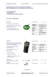 profesjonelle, digitale temperaturmålere for ... - Bernhard Moe AS