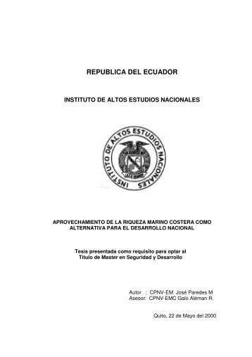 PAREDES JOSE 2000.pdf - Repositorio Digital IAEN - Instituto de ...