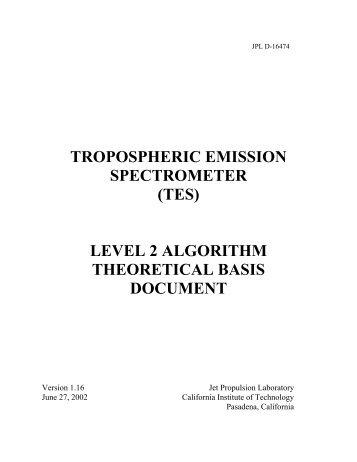 (tes) level 2 algorithm theoretical basis document - Nasa