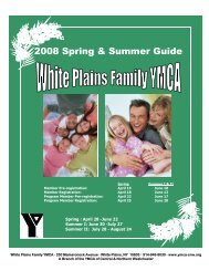 White Plains Family YMCA Spring/Summer 2008 Program Guide