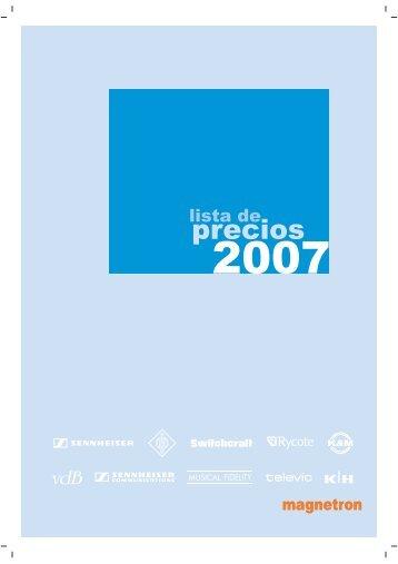 tarifas 2007 pag 1 a 15.FH11 - Magnetron