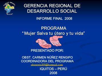 gerencia regional de desarrollo social desarrollo social - Gobierno ...
