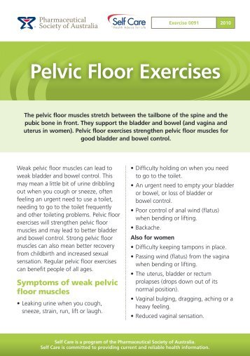 Patient information sheet pre birth pelvic floor exercises for Floor exercises