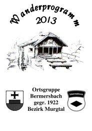 Wanderprogramm 2013 als PDF - Schwarzwaldverein Bermersbach ...