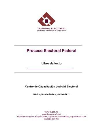 Proceso Electoral Federal - Tribunal Electoral del Poder Judicial de ...