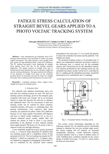 fatigue stress calculation of straight bevel gears applied