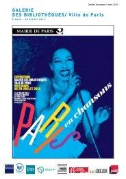 Téléchargez le dossier de presse - Paris en chansons