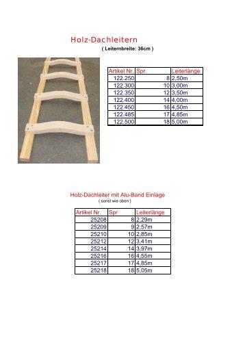 Dachprogramm Homepage - Leitern Kesting