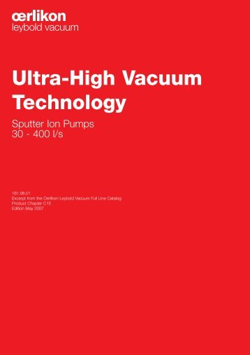 Ultra-High Vacuum Technology - Vacuum Products Canada Inc.