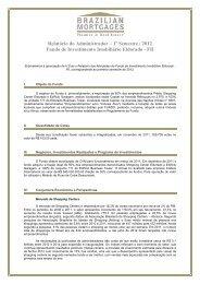 1º Semestre / 2012 Fundo de Investimento Imobiliário Eldorado - FII
