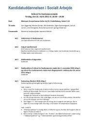 Social policy – modul 2 - Kandidatuddannelsen i Socialt Arbejde