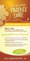 Saturday, September 24, 2011 - UBC Dentistry
