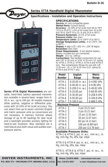 how to use a dwyer digital manometer