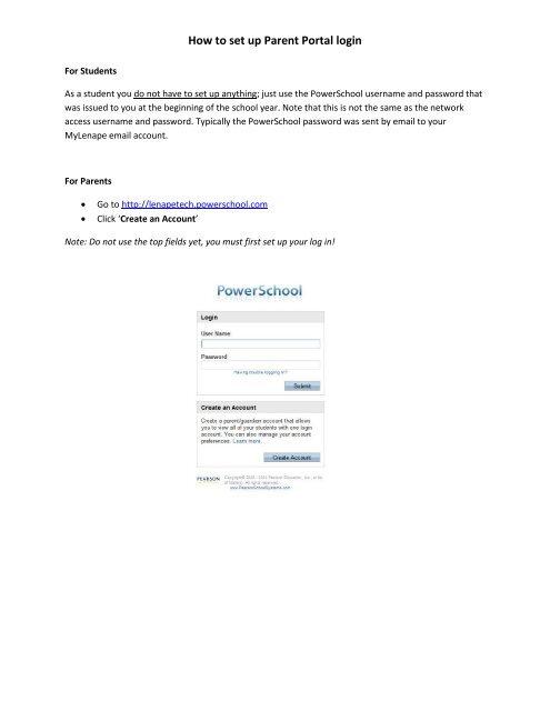 How to set up Parent Portal login