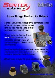 Laser Range Finder Brochure - Sentek Solutions