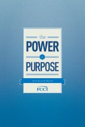 2012 Annual Report - Download Pdf - FCCI Insurance Group
