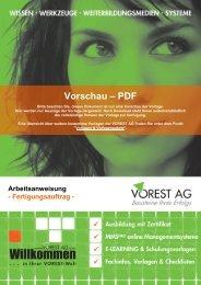 Arbeitsanweisung - Fertigungsauftrag - Vorschau - Vorest AG