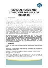 GENERAL TERMS AND CONDITIONS FOR SALE OF ... - GAC