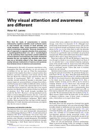 Why visual attention and awareness are different - Cisi