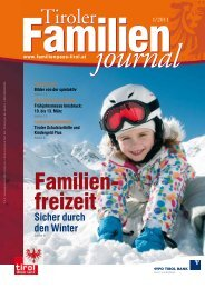 Journal 2/11 - Tirol - Familienpass