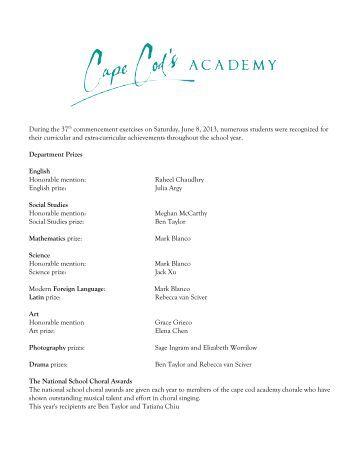 found here - Cape Cod Academy