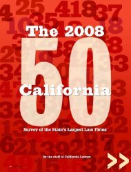 2008 california 50 - California Lawyer