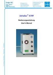 Bedienungsanleitung (PDF, 275 kb) - VOLPI AG