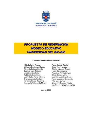 propuesta de redefinición modelo educativo universidad del bio-bio
