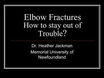 Elbow Fractures - CHU Sainte-Justine - SAAC