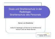 Dosis und Strahlenschutz in der Radiologie: Strahlenschutz des ...