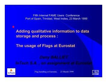 Dany BALLIET InTech S.A. , on assignment at Eurostat - Sungard