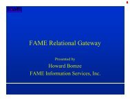 FAME Relational Gateway (FRG) - Sungard