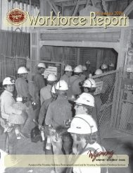 The 2006 Workforce Report - Wyoming Department of Workforce ...